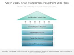 Green Supply Chain Management Powerpoint Slide Ideas