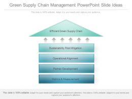 Green Supply Chain Management Powerpoint Slide Ideas