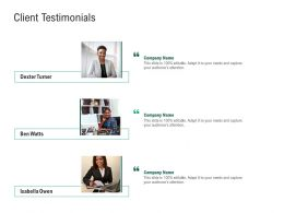 Green Technology Client Testimonials Audiences Attention Ppt Powerpoint Ideas