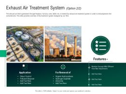 Green Technology Exhaust Air Treatment System Application Ppt Portfolio