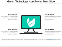 Green Technology Icon Power Point Slide