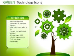 Green Technology Icons Powerpoint Presentation Slides DB