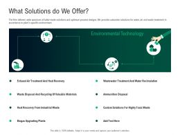 Green Technology What Solutions Do We Offer Valuable Materials Ppt Powerpoint Files