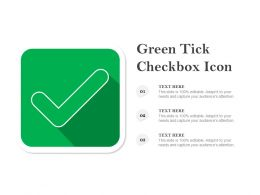 Green Tick Checkbox Icon