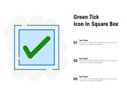 Green Tick Icon In Square Box