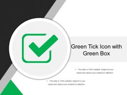 Green Tick Icon With Green Box
