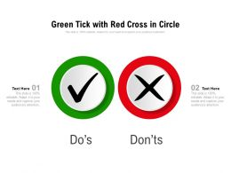 Green Tick With Red Cross In Circle