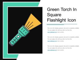 Green Torch In Square Flashlight Icon
