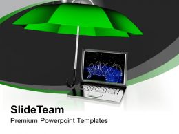 green_umbrella_with_laptop_technology_powerpoint_templates_ppt_themes_and_graphics_0113_Slide01