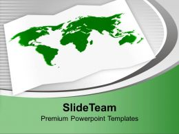 Green World Map In White Background Powerpoint Templates Ppt Themes And Graphics 0113