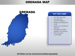 Grenada Country PowerPoint Maps
