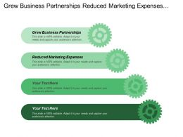Grew Business Partnerships Reduced Marketing Expenses Improved Sales