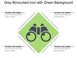 Grey Binoculars Icon With Green Background