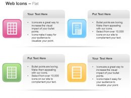 Grid View List View Video List Video Ppt Icons Graphics