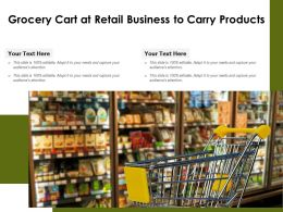 Grocery Cart At Retail Business To Carry Products