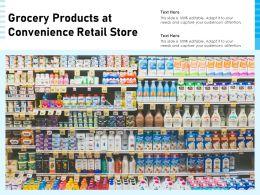 Grocery Products At Convenience Retail Store