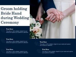 Groom Holding Bride Hand During Wedding Ceremony