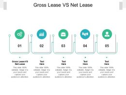 Gross Lease Vs Net Lease Ppt Powerpoint Presentation Visual Aids Diagrams Cpb