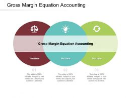 Gross Margin Equation Accounting Ppt Powerpoint Presentation Model Graphics Cpb