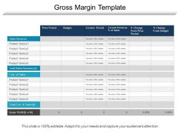 Gross Margin Template Ppt Example Professional