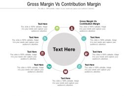 Gross Margin Vs Contribution Margin Ppt Powerpoint Presentation Gallery Picture Cpb