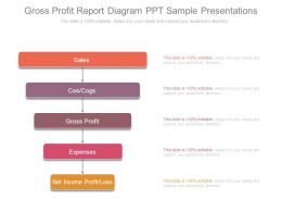 Gross Profit Report Diagram Ppt Sample Presentations