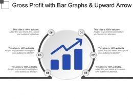 Gross Profit With Bar Graphs And Upward Arrow