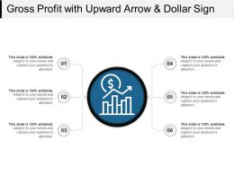 Gross Profit With Upward Arrow And Dollar Sign