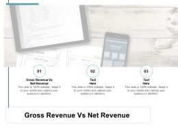 Gross Revenue Vs Net Revenue Ppt Powerpoint Presentation Slides Layouts Cpb