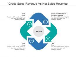 Gross Sales Revenue Vs Net Sales Revenue Ppt Powerpoint Presentation Layouts Cpb