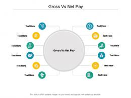Gross Vs Net Pay Ppt Powerpoint Presentation Gallery Clipart Cpb