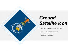 Ground Satellite Icon Sample Of Ppt Presentation