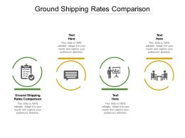 Ground Shipping Rates Comparison Ppt Powerpoint Presentation Summary Background Images Cpb