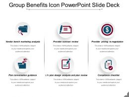 Group Benefits Icon Powerpoint Slide Deck