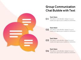 Group Communication Chat Bubble With Text