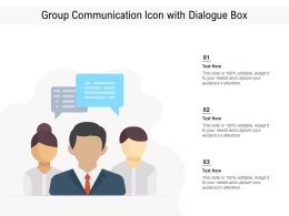 Group Communication Icon With Dialogue Box