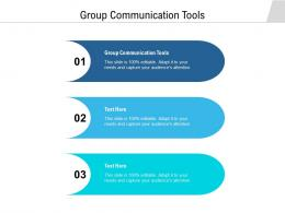 Group Communication Tools Ppt Powerpoint Presentation Icon Deck Cpb