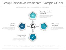 Group Companies Presidents Example Of Ppt