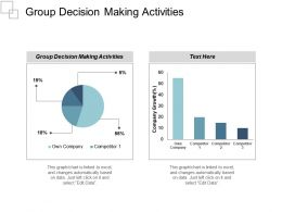 Group Decision Making Activities Ppt Powerpoint Presentation Gallery Grid Cpb