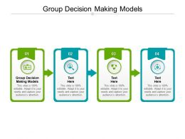 Group Decision Making Models Ppt Powerpoint Presentation Pictures Visuals Cpb