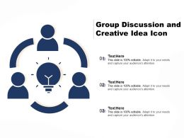 Group Discussion And Creative Idea Icon