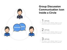 Group Discussion Communication Icon Inside A Circle
