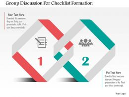 Group Discussion For Checklist Formation Flat Powerpoint Design