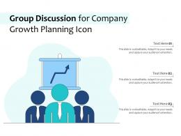 Group Discussion For Company Growth Planning Icon