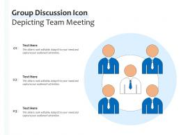 Group Discussion Icon Depicting Team Meeting