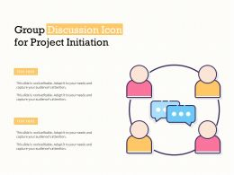 Group Discussion Icon For Project Initiation