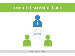Group Discussion Icon Growth Planning Communicate Business Objectives