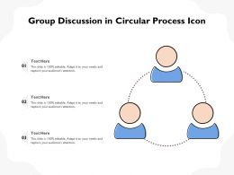 Group Discussion In Circular Process Icon