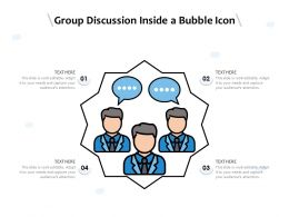Group Discussion Inside A Bubble Icon
