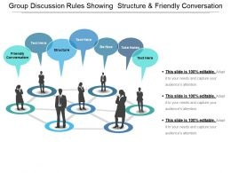 Group Discussion Rules Showing Structure And Friendly Conversation
